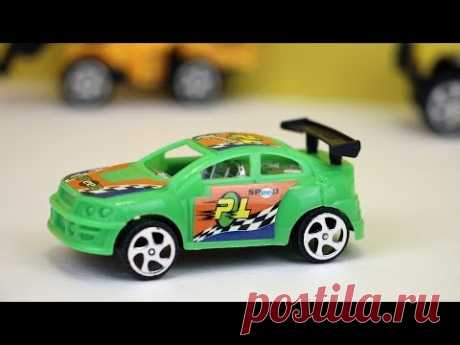 Green sports car video for young children. Cars for babies. Toy sports car unboxing - YouTube