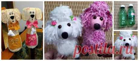 Recicla botellas de plástico y haz lindos perritos ~ Solountip.com