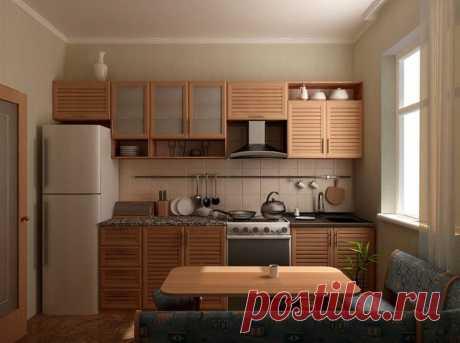 Кухонный угловой гарнитур для кухни 9 кв. м: фото дизайна с холодильником