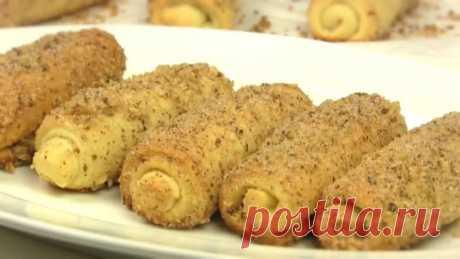 Печенье - рулетики с корицей и грецкими орехами. Вкусная простая мягкая выпечка к чаю.  #bake@lyogkieretsepti
