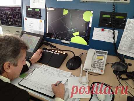 Workplace of the air traffic controller