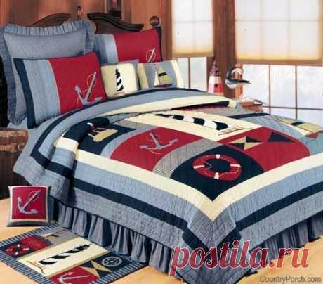 Лоскутные покрывала и подушки