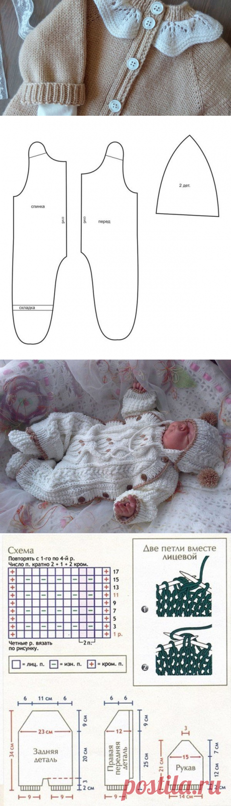 Overalls for newborns spokes: schemes with the description, video lessons for beginners - allWomens