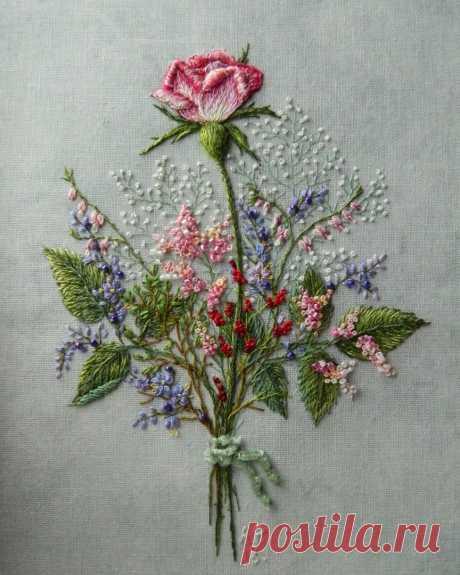 Шикарная вышивка: идеи для творческого вдохновения Шикарная вышивка: идеи для творческого вдохновенияШикарная вышивка от Андреевай Розы.