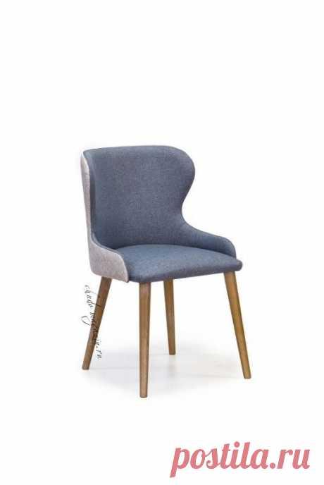 Мягкий стул из массива дерева пурпурно-синего цвета на ножках Глори 3. В интернет-магазине Chudo-magazin.ru в Москве.