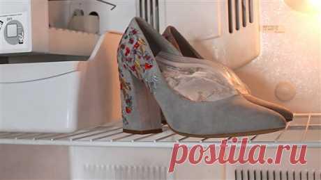 Хитрый трюк для растяжки обуви