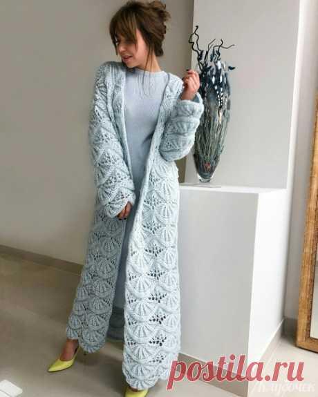 Узор для вязаного пальтишка