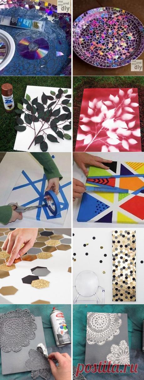 Невероятные идеи для картин, которые украсят любую комнату / Я - суперпупер