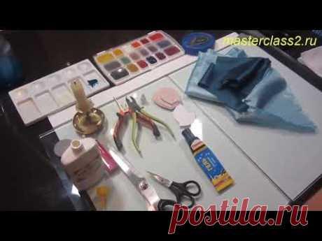 Мастер класс Голубая роза из подкладочной ткани. Часть 1. Цветы из ткани