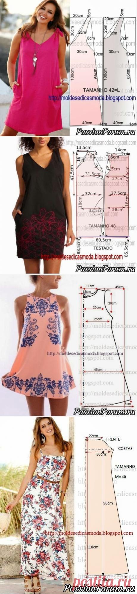 Выкройки женских платьев