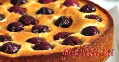 Пирог на кефире с вишней: очень простой - вкус не передать словами Читать далее...