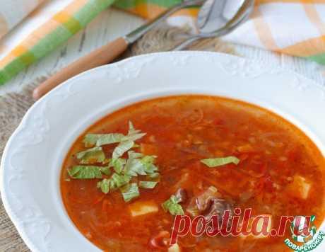 Томатный суп с чечевицей и говядиной – кулинарный рецепт