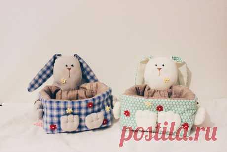 Пасхальная корзинка из ткани своими руками (Шьем игрушки) | Журнал Вдохновение Рукодельницы