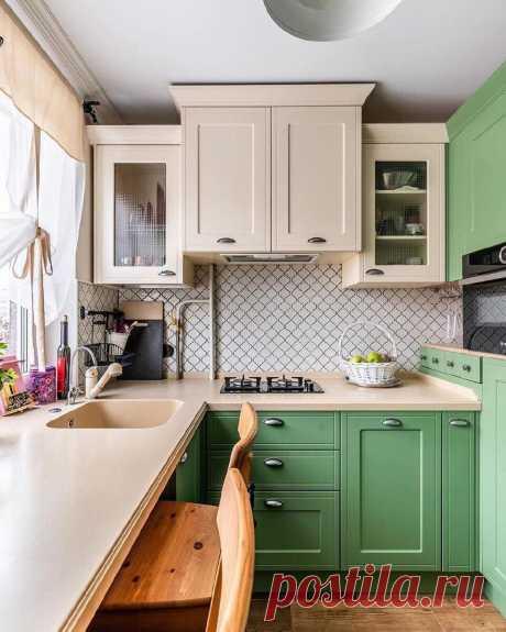 Кухня как в американском кино на 6 кв.м. Пожертвовали удобством ради красоты