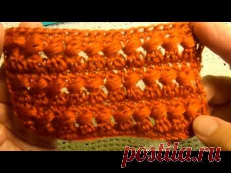 """Красивый УЗОР  """"Рыжик"""" , Вязание КРЮЧКОМ , crochet beautiful pattern ( узор № 322)"""