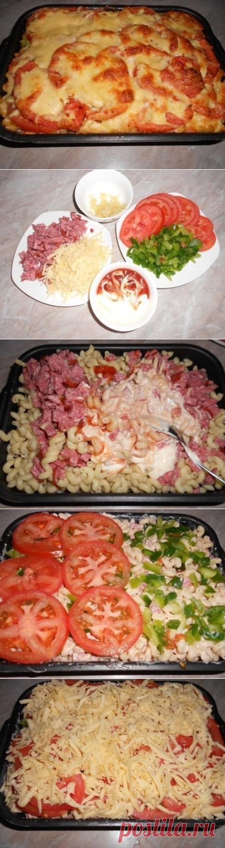 Как приготовить готовим пикантные макароны в духовке. - рецепт, ингредиенты и фотографии