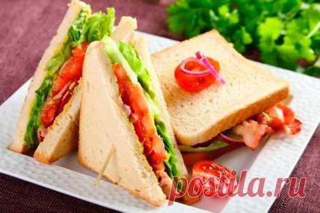 Вкусные бутерброды с беконом – пошаговый рецепт с фото.