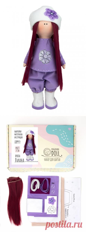 Набор для шитья куклы Pugovka Doll Лиана