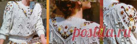 Схема и описание вязания красивой женской кофточки