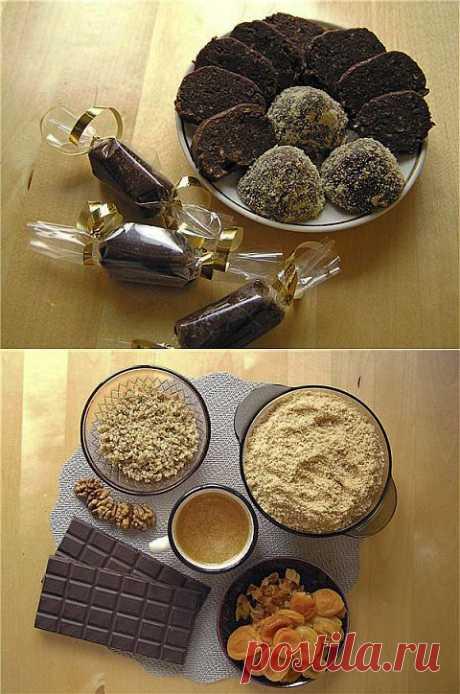 Шоколадная колбаса | Банк кулинарных рецептов
