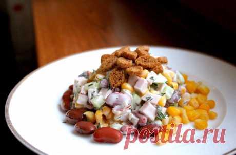Готовим невероятно вкусный салат светчиной ифасолью Пошаговые рецепты приготовления салата с ветчиной и фасолью. Быстрые рецепты которые помогут каждой хозяйке делать вкусные блюда