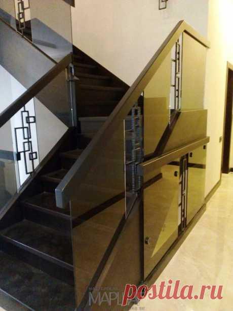 Лестницы, ограждения, перила из стекла, дерева, металла Маршаг – Лестничные перила самонесущие с ковкой