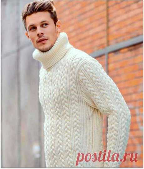 Вяжем подарок к 23 февраля: 5 мужских свитеров спицами.