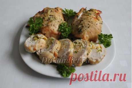 Las pechugas de pollo rellenadas por el huevo y la verdura   Dieta Dyukana: el cálculo del peso, la fase, las revocaciones, las recetas