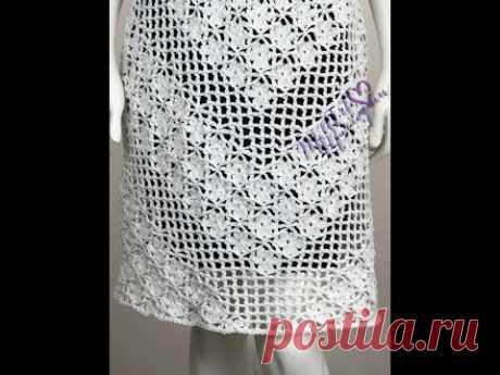 Vestido Crochet Mediano parte 3 de 3