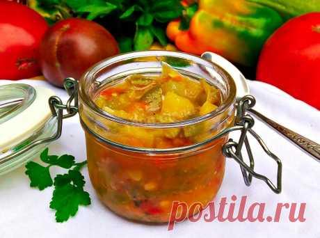 Салат из кабачков помидоров и перца на зиму рецепт с фото пошагово и видео