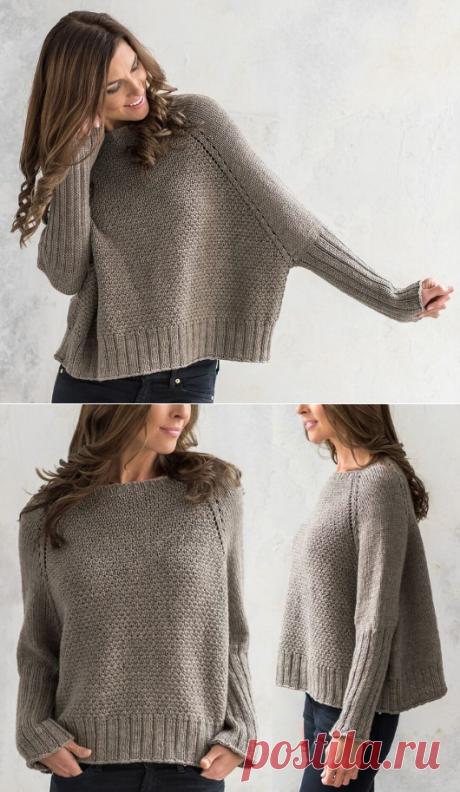 Вязаный свитер-пончо Brickyard | ДОМОСЕДКА