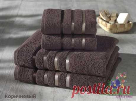 Комплект из 4 полотенец Karna Bale коричневый