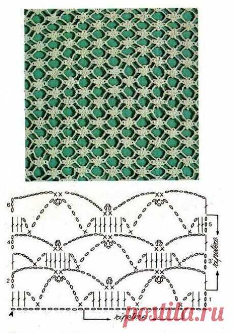 Схемы ажурного вязания крючком. Пополняем коллекцию. | Саблина Олеся | Яндекс Дзен