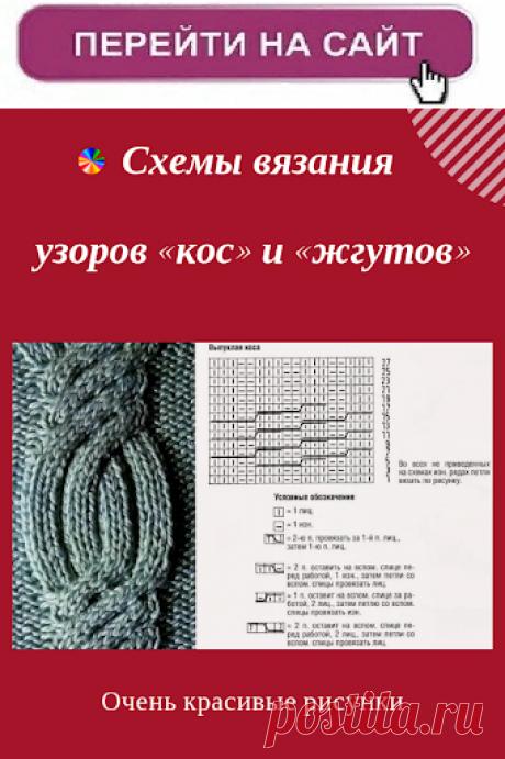 Новые схемы вязания спицами и крючком.