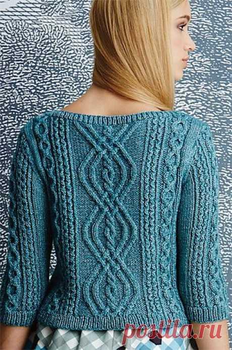 Вязание пуловера Bateau-Neck