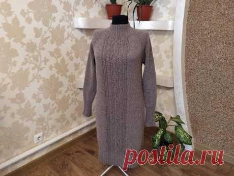 """Платье (свитер) из пряжи """"Borotalco"""". Часть 4. Закрытие петель."""