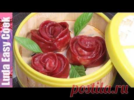 Los PELMENI ROZOCHKI CHINOS los Pelmeni De color a un PAR Es sabroso y Es hermoso | Rose Dumplings Chinese