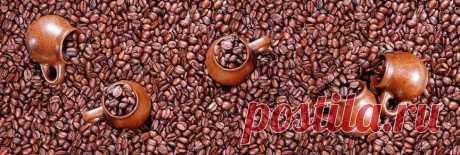 Скинали кофе в зернах на кухонный фартук, на сайте www.skinali-plus.com
