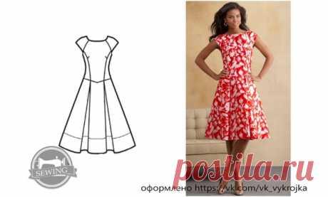 Платье #Готовые_выкройки на размеры 8-18 (US)