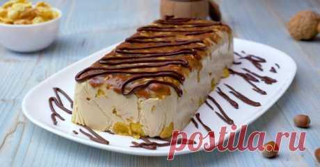 Карамельный торт на скорую руку: десерт без выпечки