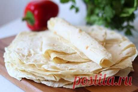 Армянский лаваш на сковороде