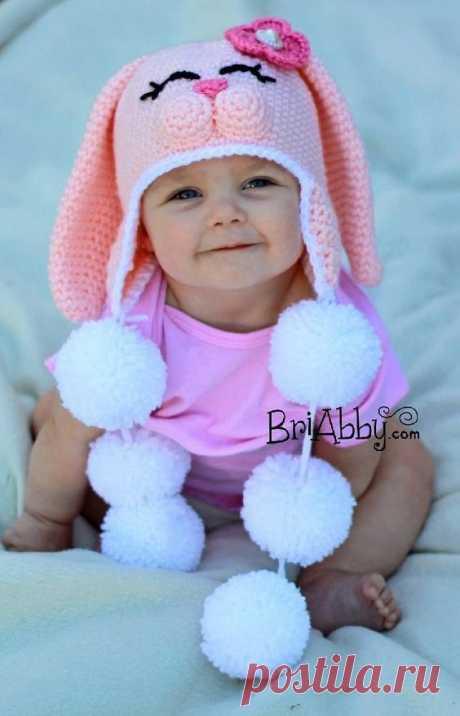 Sweet Bunny Hat Crochet pattern by Joni Memmott