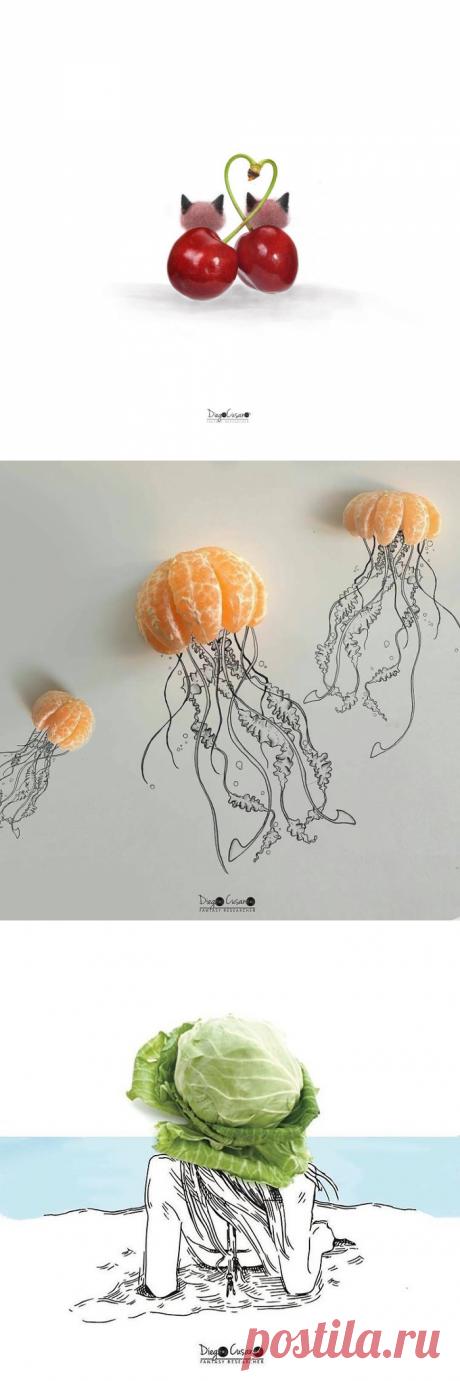 Идеи рисунков с продуктами — DIYIdeas
