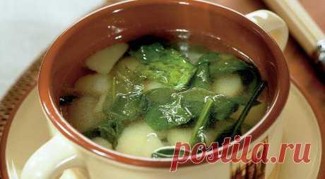 Картофельный суп с черемшой — Готовим дома