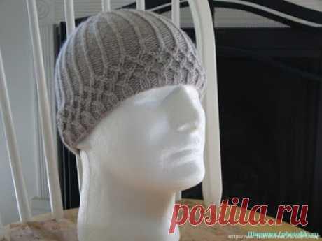Модели вязания со схемами и описаниями: Как вязать мужскую шапочку