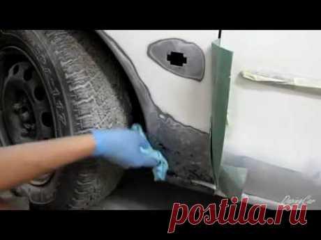 18☼9 Заделать отверстие в кузове авто без сварки.  Полный процесс подготовки под грунт