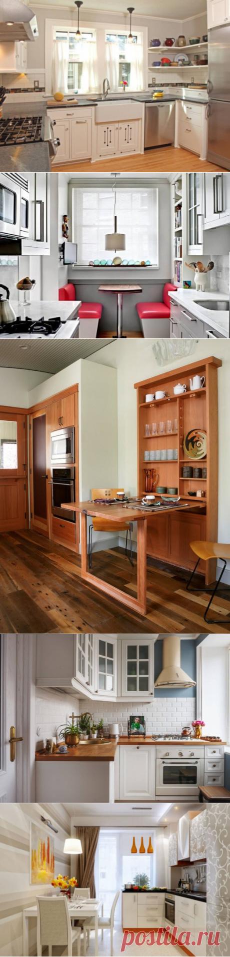 Дизайн интерьера маленькой кухни, или Как нескольким квадратных метрам засиять по-новому — Pro ремонт