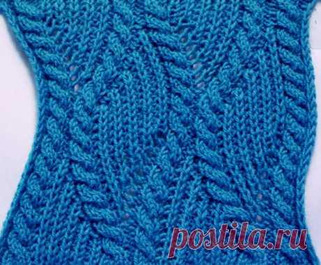 Патентный узор с косами вязаный спицами. Новые схемы вязание спицами | Вязание для всей семьи