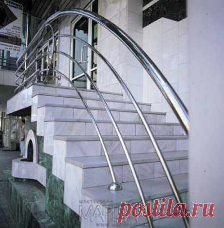 Лестницы, ограждения, перила из стекла, дерева, металла Маршаг – Уличные нержавеющие ограждения лестницы