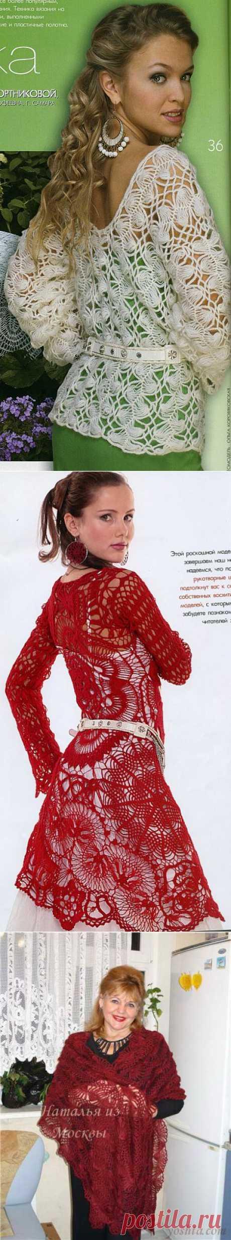 ВЯЗАНИЕ НА ВИЛКЕ... красивые модели... описание....
